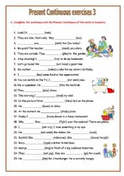 Printables Present Progressive Worksheets english worksheets present continuous page 37 continuous