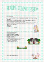 English Worksheets: READING COMPREHENSION 3