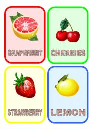 English Worksheet: Fruit flashcards (1/3)