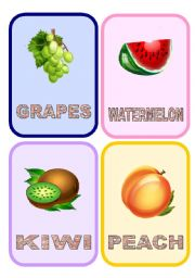 English Worksheet: Fruit flashcards (2/3)