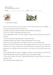English worksheet: The Ant & The Cicada R: COMP. & some use of english exercises