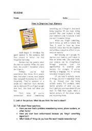 English Worksheets: How to improve your memory