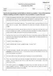 English Worksheets: Sample Comprehension