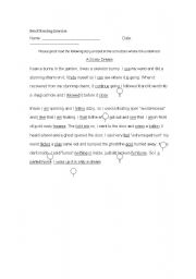 English Worksheet: Proofreading Exercise