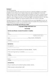 English Worksheets: Form filling exercise