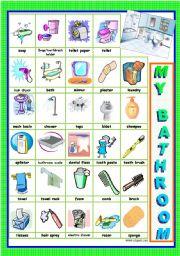English Worksheet: MY BATHROOM