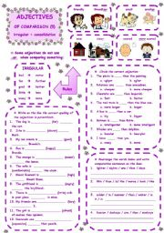English Worksheet: ADJECTIVES OF COMPARISON - 5 of 5