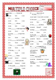 English Worksheet: Multiple Choice (Part 3) - Auxiliary Verb To BE
