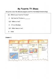 English Worksheets: My Favotie TV Show