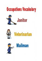 English Worksheets: Occupations Vocabulary