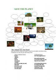 english worksheet save the planet listening task. Black Bedroom Furniture Sets. Home Design Ideas