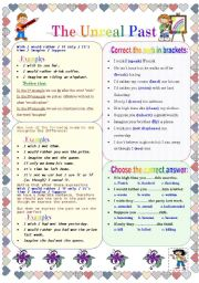 English Worksheet: The Unreal Past