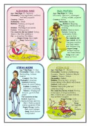 English Worksheets: Speaking Card