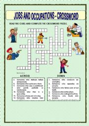 Jobs and occupations crossword this crossword puzzle was created by me