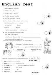 English Worksheets: English text 5