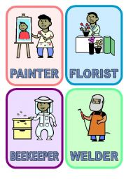 English Worksheet: 20 flash-cards: JOBS & PROFESSIONS (2/3)