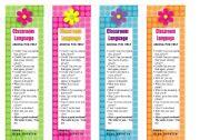 English Worksheet: Classroom Language Bookmarks