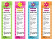 Classroom Language Bookmarks