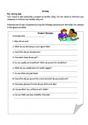 English Worksheets: Interview form