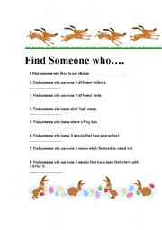 English Worksheets:  find a person