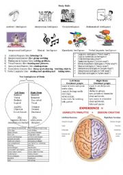 English Worksheet: learning styles