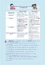 English Worksheet: Noun clauses and Adverb clauses