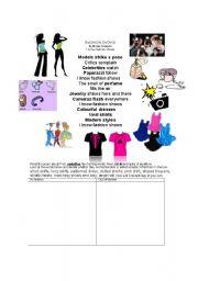 Fashion poem and associated vocab