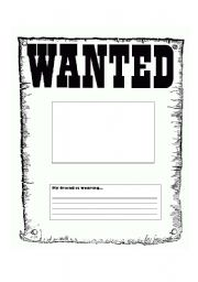 English Worksheets: Wanted