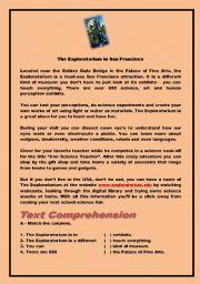 English Worksheets: The Exploratorium