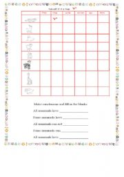English Worksheets: tick off