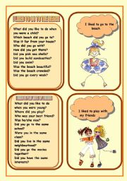 English Worksheet: WHAT DID YOU LIKE TO DO IN YOUR CHILDHOOD