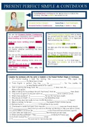 English Worksheet: Present Perfect Simple x Present Perfect Continuous