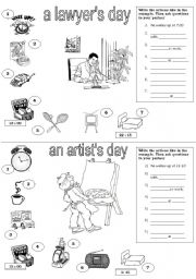 English Worksheets: daily routine - speaking activity