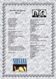 English Worksheet: Smell like Teen Spirit by Nirvana