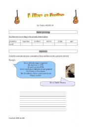 English Worksheets: Like a hobo (by Charlie Winston)