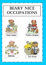 English Worksheets: Beary Nice occupations