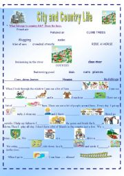 English Worksheet: CITY AND COUNTRY LIFE 2