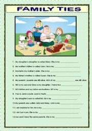 english teaching worksheets family. Black Bedroom Furniture Sets. Home Design Ideas