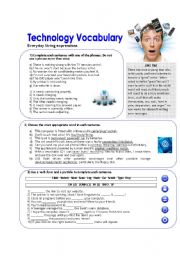 English Worksheet: Technology Vocabulary
