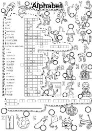 English Worksheet: ALPHABET PUZZLE and FALLEN PHRASE