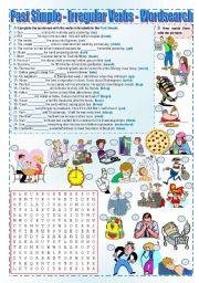 English Worksheet: Past Simple - Irregular verbs (wordsearch)