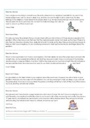 English Worksheets: Dear Ms. Advice - Neighbors