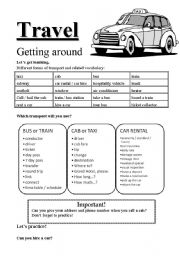 travel getting around esl worksheet by tint