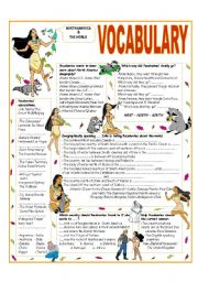English Worksheet: RECYCLING VOCABULARY-TOPIC: NORTH AMERICA AND THE WORLD  -  Elementary & up