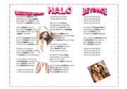 English Worksheets: HALO - BEYONCE