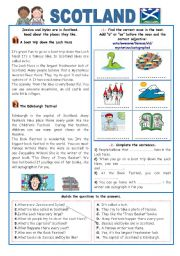 English Worksheet: ENGLISH-SPEAKING COUNTRIES (14) SCOTLAND