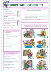 English Worksheet: I�m going to the beach