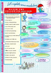 English Worksheet: Water words slang (2). A version of Cinderella by David Burke