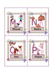English Worksheet: Disney Alphabet!! (Edited) 2nd part M-Z