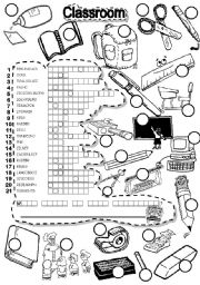 English Worksheet: SCHOOL PUZZLE